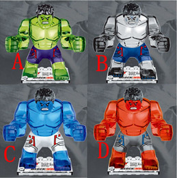 Bloques de construcción de cristal online-200 unids / lote The Avengers crystal HULK Building Blocks Sets Super Hero mini building blocks figuras Juguetes