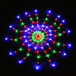 Wholesale Led Net Light For Xmas - 120LED Curtain Net Lights LED Spider web light mesh fairy lights for christmas  Xmas Wedding party Holiday decoration-Colorful order<$18no t