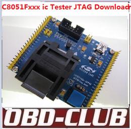 Wholesale Ic Socket Connector - Original YAMAICHI C8051F340 programmer IC51-0484-806-6 TQFP48 C8051F ic tester socket C8051F340 JTAG Download connector Free Ship