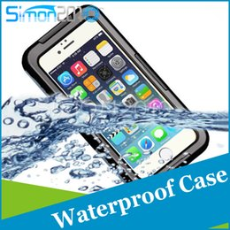 """Wholesale Dive Seal Bags - For iPhone 5 iphone6 4.7"""" Waterproof Case 100% Sealed Durable Diving Underwater Shockproof Dirtproof Protective Skin Cover Bag Strap"""