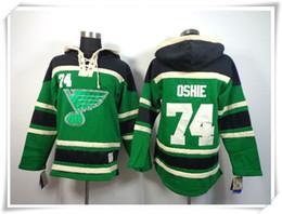 Deutschland ICE Hockey Pullover Trikots Blues Men # 74 Oshie GRÜN Beste Qualität Nähte Trikots Sport Jersey Mix Order Versorgung