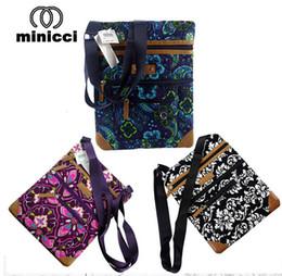 Wholesale Tweed Fabric Wholesale - 6 lot European American famous brand minicci cotton single shoulder bag fashion, people flowers handbag wallet