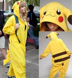 xxxl naruto cosplay Desconto Alta qualidade new hot sale amarelo pikachu dress adorável barato pijama anime cosplay unisex adulto sleepwear