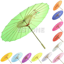 Wholesale Japanese Umbrella Wholesale - Wholesale-Free Shipping 2016 Chinese Japanese Umbrella Art Deco Painted Parasol For Wedding Dance Party