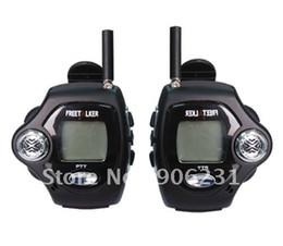 Wholesale Digital Walkie - Wholesale-Free shipping!! 2pcs a set, with Digital Clock, Free talker Backlight LCD display New watch walkie talkie