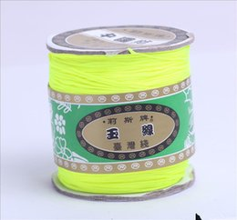 Wholesale Nylon Shamballa - Wholesale-Free Ship! 150M High Quality Mix Colour Beading Shamballa Cord Rope Nylon 1.5mm Rope for Shamballa Bracelet(W03100-w03019)