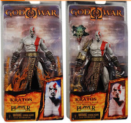 "Wholesale Kratos God War Toy - 2 styles 7"" 18cm High Quality Eco-Friendly NECA GOD OF WAR KRATOS Medusa Head Action Figure Doll Toys Movie Cartoon 1PC"
