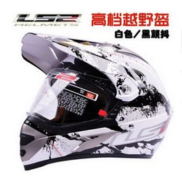 Wholesale Ls2 Mx433 Motorcycle Helmet Abs - LS2 MX433 motorcross motorcycle helmet off road motorbike helmets made of ABS and White color black trembling