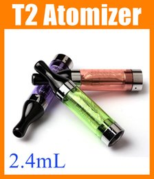 Wholesale E Cigarette Ego Ce9 - Ecig T2 atomizer clearomizer CE9 atomizers tanks clear ego atomiser rebuildable changeable dual coil atomizer e electronic cigarette AT043