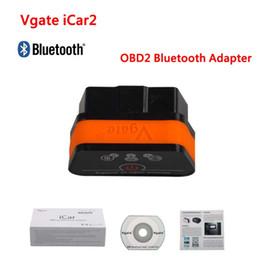 Wholesale Vw Bluetooth Adapter - Vgate iCar2 ELM 327 V2.1 OBD2 Bluetooth Adapter Auto OBD Scanner Car Code Reader Diagnostic Scan Tool Universal ODB ODB2 OBDII