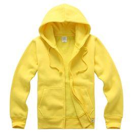 Wholesale Children S Jumpers - custom printing DIY logo blank hoodie Adult Children Fleece blank zipper tracksuit mix colour hoddies jumpers sport suits XXL