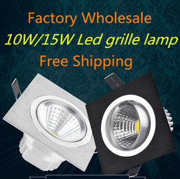 Wholesale Grille Manufacturers - Wholesale price COB 10W 15W LED ceiling lamp Bay light background aisle wall embedded COB grille lamp manufacturers selling With led driver