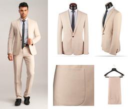 Wholesale Wedding Tuxedos Colors - Handsome One Button Slim Fit Groom Tuxedos Notch Lapel Men's Suit 3 Colors Groomsman Best Man Wedding Prom Suits (Jacket+Pants+Tie) J943