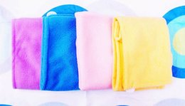 Wholesale Magic Hair Dry Drying Towel - Free EMS Microfiber Magic Hair Dry Drying Turban Wrap Towel Long-haired Ultrafine Super Absorbent Fiber Hat Dry Hair Towel