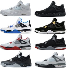 Wholesale Money Pack - Wholesale air retro 4 Basketball Shoes men Pure Money Royalty White Cement Fire Red Black cat Bred Motosports Blue Fear Pack Sports shoes