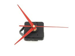 Wholesale Clocks Hand Parts - Fashion Hot Quality Quartz Clock Movement Mechanism Parts Tool Set with Red Hands Silence