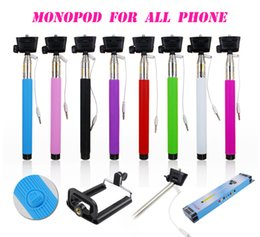 Wholesale Cheapest Iphone 5s - Cheapest Selfie Monopod Stick Z07-5s Extendable Handheld Monopod Tripod Extender Sticks 3.5mm wired Cable Take Pole for iPhone Samsung