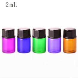 Wholesale Mini Plastic Containers Lids - 2ml Small Essential Oil Bottle With Plastic Lid,2ml Glass Bottle, Mini Glass Vials,Mini Glass Container fast shipping F20172410