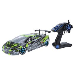 Wholesale Esc Brush Rc - 100% Original HSP 1 10 94123 2.4Ghz Electronic Powered Brushed ESC Flying Fish RTR 4WD On-road RC Drift Car with 10032-2 Body