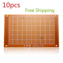 Wholesale Breadboard Prototype Pcb Print - 10pcs lotes TOP Quality PCB Prototyping Printed Circuit Board Breadboard Prototype Stripboard 9x15cm FREE SHIPPING