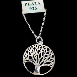 gift christmas tree Promo Codes - Item 925 Fashion Most Popular Hot Silver Plated Tree Of Life Pendant Necklace 18inch Wholesale Price Free Shipping