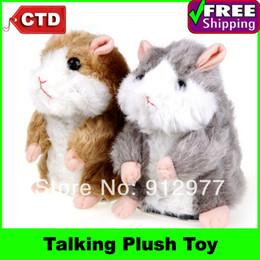 Wholesale Toy Hamster Voice - Wholesale-Super Likable Hamster Copy Voice Pet Recorder Talking Plush Toy
