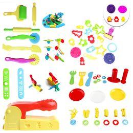 utensili in argilla per bambini Sconti 1Set Kids Plastic Mixed Plasticine Clay Dutter Cutters Moulds Childrens Modeling Tool