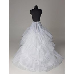 Wholesale Cheap Crinoline Petticoats - Cheap Wedding Petticoats Layers Tulle Crinoline for Dresses with Train Free Size Wedding Dresses Underskirt CPA211