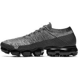 Wholesale Multi Cool - New Vapormax Mens Shoes For Running Women Shoe Oreo Bred Explore Midnight Fog Cool Grey WMNS Explore Pack Triple Black Mens Shoes