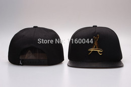 "Wholesale Tha Alumni Snap Back - Wholesale-brand tha alumni snapback caps black gold ""A""hip hop baseball cap for men women fashion sports hat snap back best"
