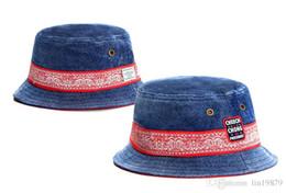 Wholesale Brown Bucket Hat - 2017 summer New arrival Men's and Women's sport Cayler & Sons denim bucket hats fishman cartoon summer style bob fishing caps