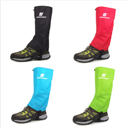 Wholesale Wholesale Hiking Boot Men - Wholesale- Outdoor Hiking Climbing Waterproof Snow Gaiters Leg Cover Boot Legging Wrap For Dropshipping