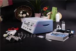 Máquina para eliminar el acné online-Efecto obvio 5in1 acné multifunción eliminar microdermoabrasión ultrasónica de alta frecuencia peeling diamante peine de vacío cuidado facial máquina