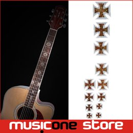 Wholesale Guitar Frets - Guitar Fretboard Inlay Stickers Imitation Abalone Gross Acoustic Electric Fret Neck Decals Markers New MU1288-23