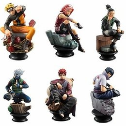 Wholesale Naruto Figures Set - Wholesale-6PCS SET Anime Cartoon Naruto Figure Set Gaara Kakashi Sakura Uzumaki Hatake Toys PVC Action Figure Brinquedo Free Shipping