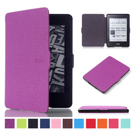 Wholesale Kindle Reader Case - PU Leather Auto Sleep Wake Cover for Kindle Paperwhite 958 6 inch Ebook Reader Smart Cover for Kindle Paperwhite 1 2 3