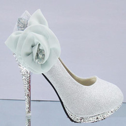 Wholesale ivory rhinestone bridal shoes - Fashion heels waterproof Shoes wedding shoes Bridal Shoes 4 colors in stock