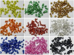Wholesale glass bead tubes - 5000 Glass Tube Bugle Seed Beads 2X2mm Silver-Lined + Storage Box