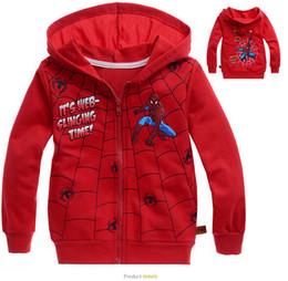 Мужские толстовки для детей онлайн-Горячие Продажи дети мальчик-паук толстовки куртка пальто мальчиков хлопок вышивка человек-паук топы пиджаки одежда высокого качества l-016
