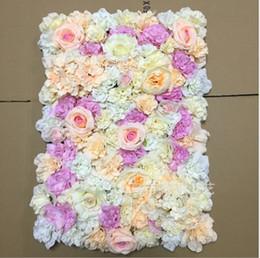 mur de fleurs Silk rose entrelacs mur cryptage fond floral fleurs artificielles étape de mariage créatif livraison gratuite ? partir de fabricateur