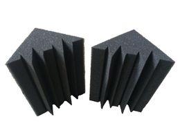 Wholesale soundproofing foam wholesale - 12 PCS Black Studio Soundproof Foam Charcoal Bass trap Acoustic Sponge