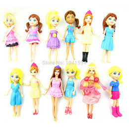 Wholesale Patterns Toys - New arrive, New Mixed pattern random 12pcs set Cute Polly Pockets Girl Doll Toy Figures For Best Gifts