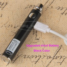 Wholesale Ecigs Batteries - Authentic UGO-V2 Battery eVod 650 900mAh Vape Batteries Mods eGo Micro Passthrough with USB Cable Chargers for 510 Thread eCigs eGo Atomizer