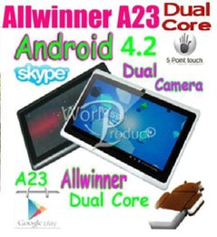 Wholesale Cheap Android Wifi Tablets - dhl 2017 cheap hot Factory price !! AllWinner A33 Dual Core Android 4.4 7inch 512MB 4GB WIFI+ Dual Cameras 7