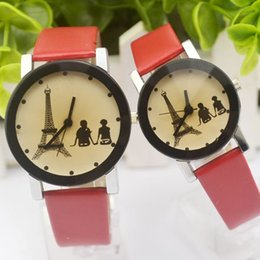 Wholesale Couple Watch Eiffel Tower - The new Eiffel Tower on the table belt couple watch men and women watch Korean student watches wholesale tide
