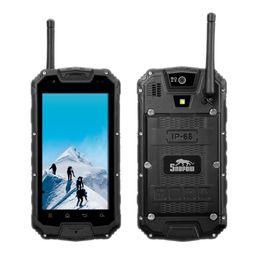 "Wholesale Mtk6589 Touch - Original Snopow M8 4G LTE IP68 Rugged Waterproof Shockproof Smartphone PTT Two Way Radio Walkie talkie 4.5"" MTK6589 Quad Core Mobile Phone"