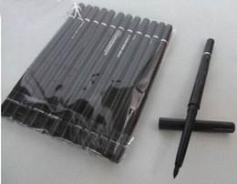 Wholesale Makeup Eye Pen - 12pcs lot FREE SHIPPING brand Makeup Rotary Retractable Black Eyeliner Pen Pencil Eye Liner
