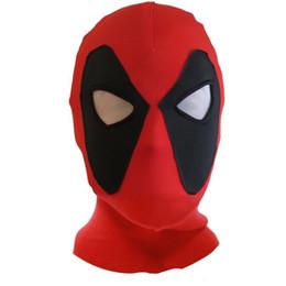 Cappello degli uomini di x online-1pcs Nuovo Deadpool Maschera Arma X Supereroe Balaclava Costume Cosplay Halloween X-men Cappelli Freccia Death Rib Tessuti Full Face Mask