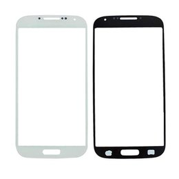 Wholesale Galaxy S3 Screen Oem - For Samsung Galaxy S4 IV i9500 S3 Slll i9300 Front Outer Screen Glass Lens Cover Replacement Parts OEM Free shipping