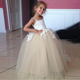 Wholesale Cheap Hot Girl Clothing - Hottest flower girls dresses for weddings Princess Tutu girls pageant gowns Cheap Children Clothes Flower Girl Dress For Party Wedding